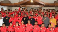 kontingen Popnas sebelum bertolak ke Jakarta