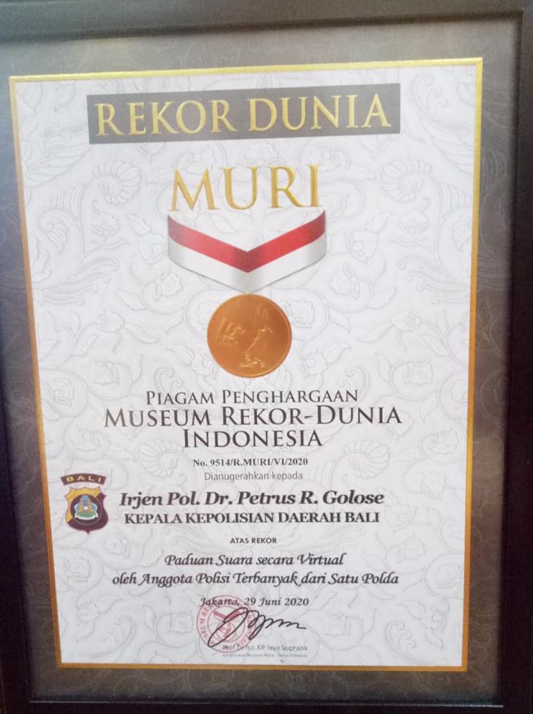 Kapolda Bali, Irjen Pol Petrus Reinhard Golose